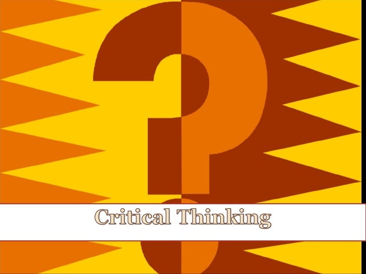 critical thinking presentation topics