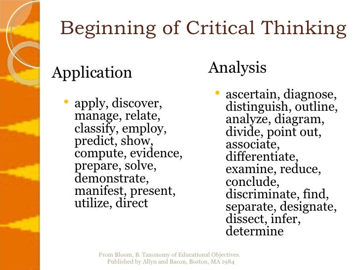 Critical thinking for beginners