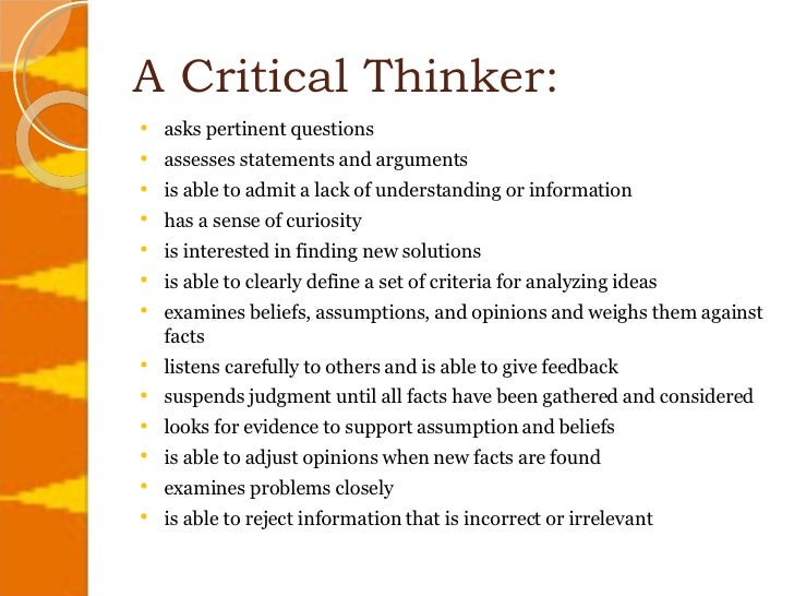 interesting topics for critical thinking
