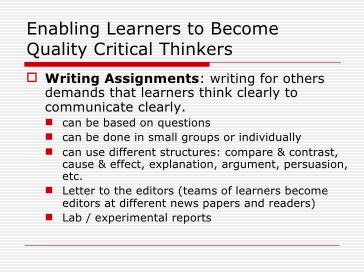 Critical Thinking - Education Discovered Magazine