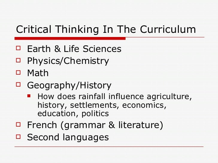 critical thinking challenges for high school By the end of high school, united states students rank among the lowest in the industrialized world in math and science  an introduction to critical thinking page.