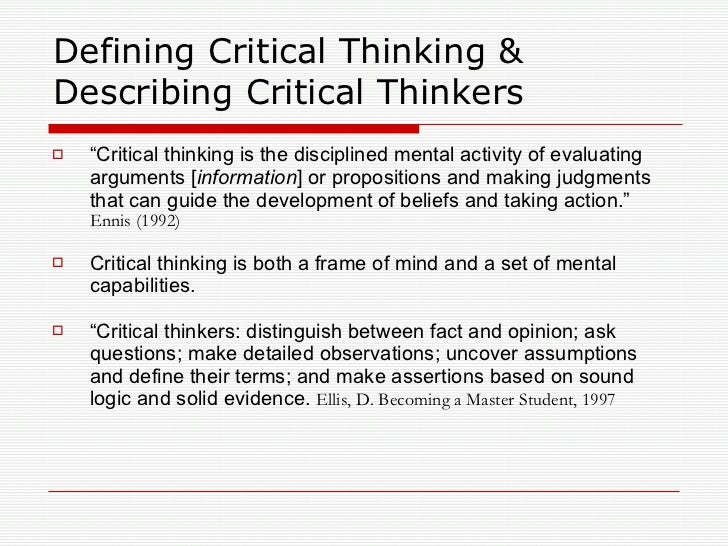 articles on critical thinking Critical thinking and critical teaching the critical thinking movement is slowly gathering momentum the discussion of critical thinking in this article is based almost entirely on the work of richard paul and the foundation for critical thinking.