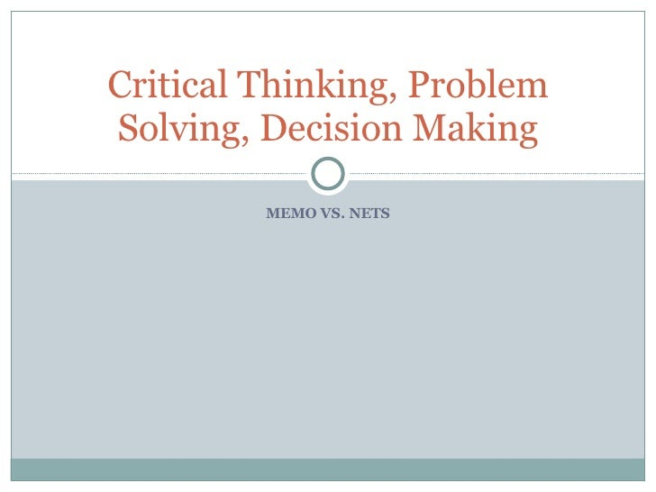 critical thinking and problem solving definition