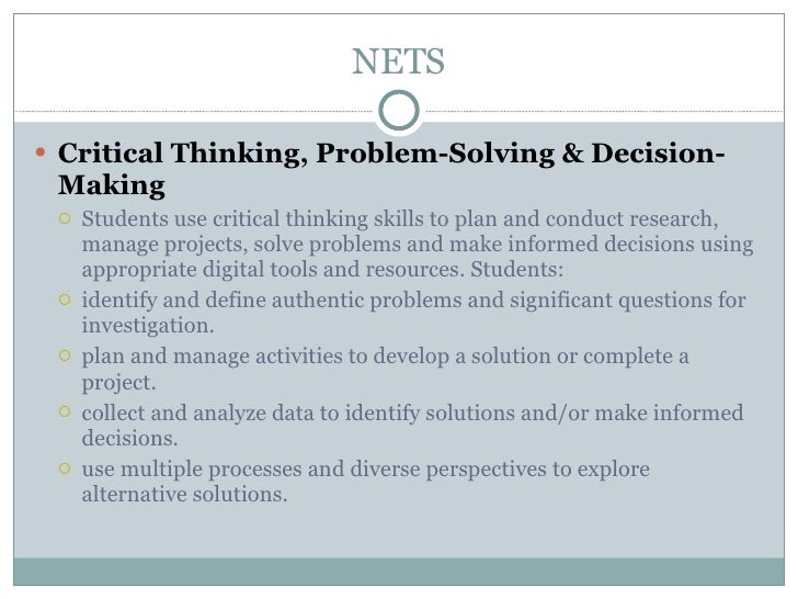 Critical thinking decision making techniques