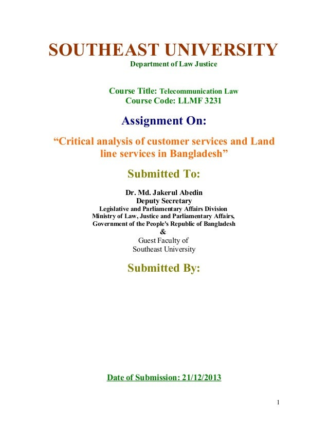 Critical analysis of customer services and land line services in bangladesh by Sayef Amin +8801924122222