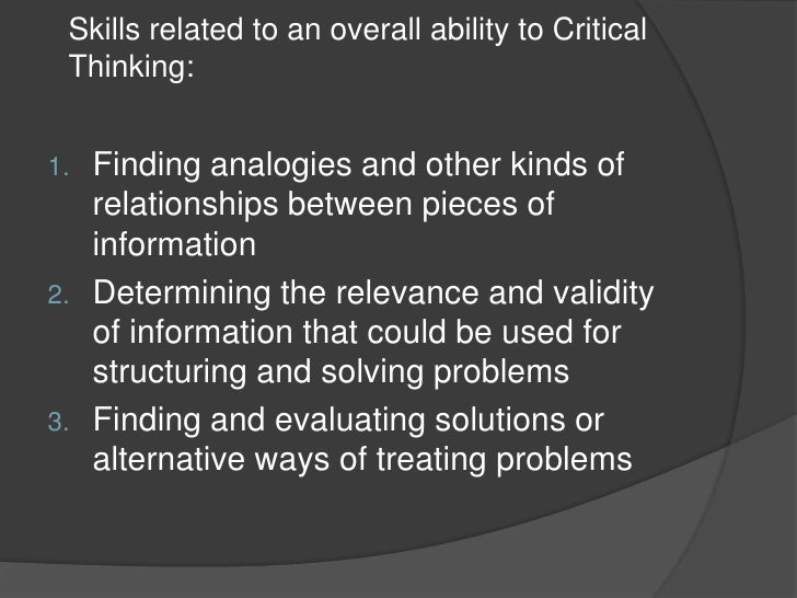 relationships between critical thinking and ethics essay