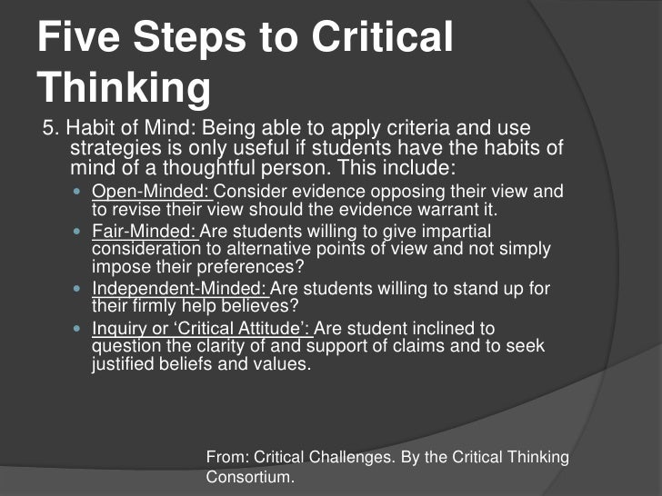8 steps to critical thinking