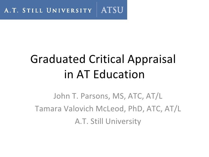 A Graduate Critical Appraisal Assignment for Athletic Training
