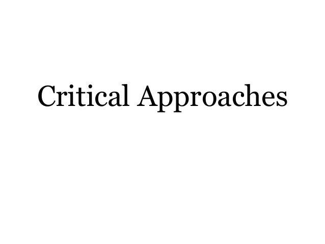 Criticalapproaches