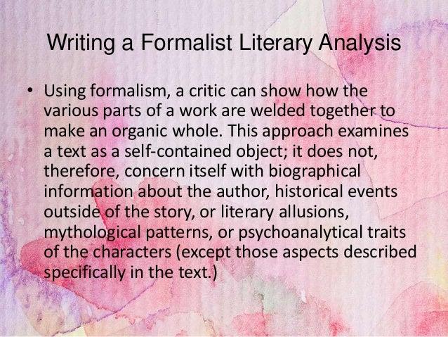 How do you write a Literary Criticism Analysis?