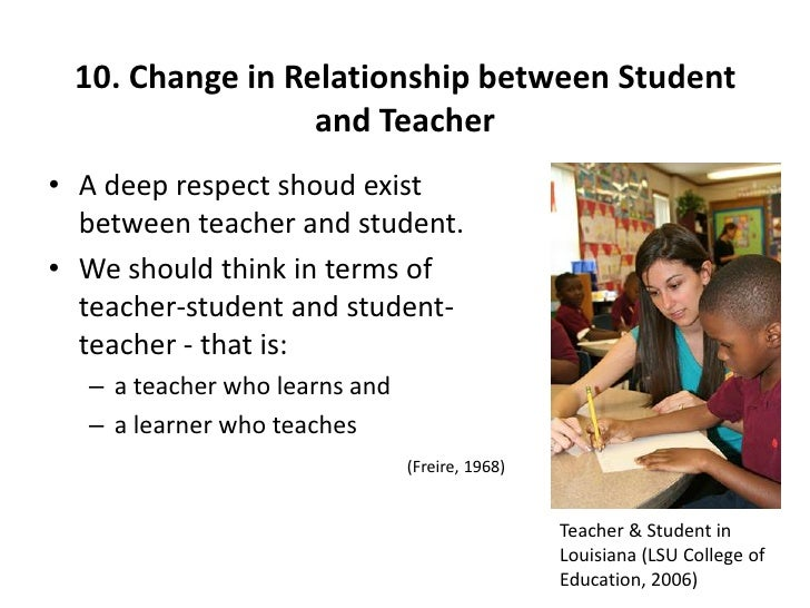 relationship between teacher and students The nature of the relationship between teachers and students of university  chapter 3 the relationship between teachers and students the teacher and student's.
