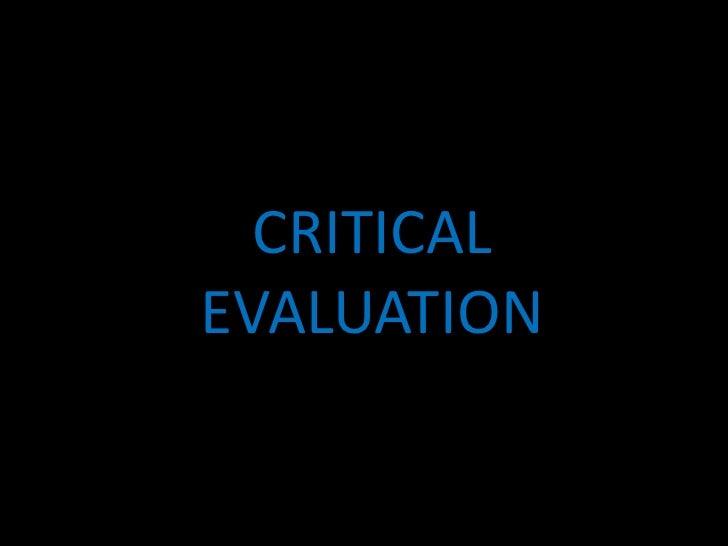 Critical evaluation[1]