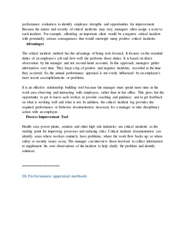 Essay Method Of Appraisal