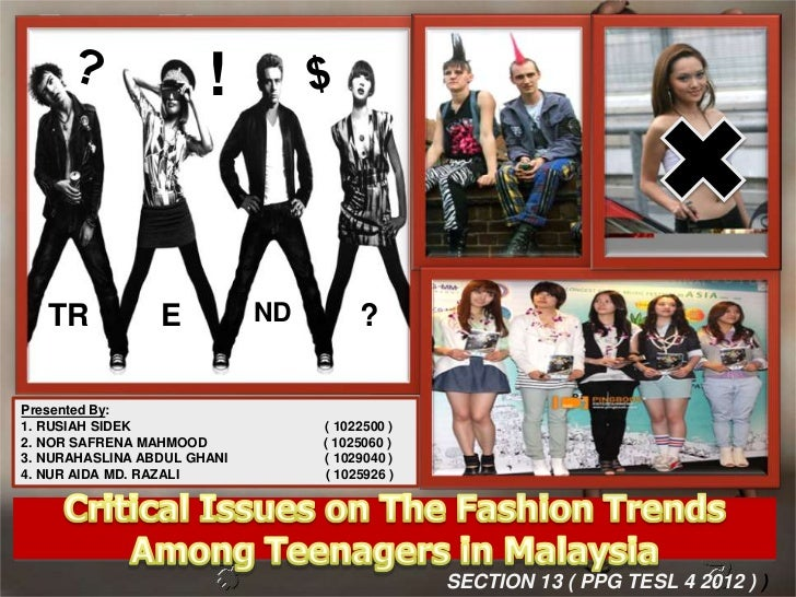 essay on modern fashion trends among teenagers