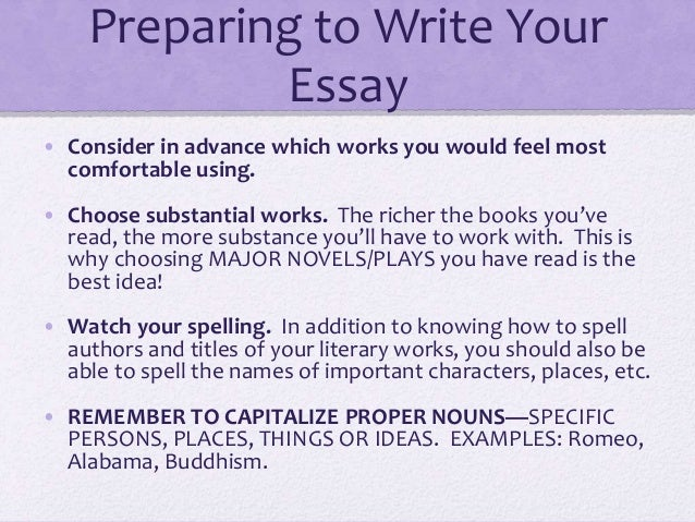 How to write a essay with lenses