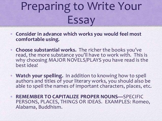 How to write an critical lens essay?