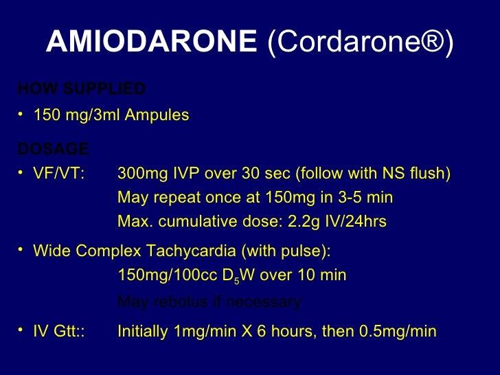 Cordarone Maximum Dosage
