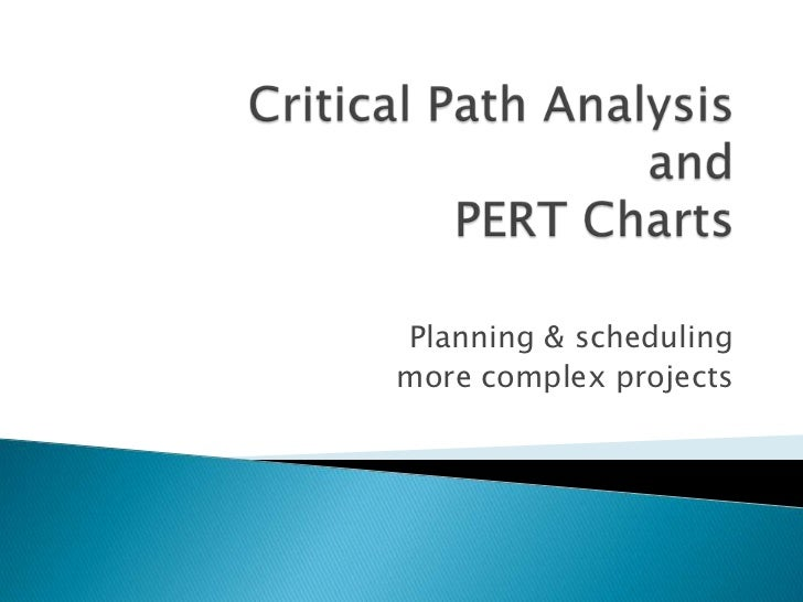 Planning & schedulingmore complex projects