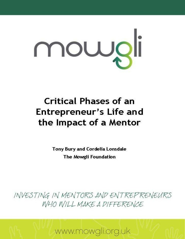 Critical phases of mentoring in the life of an entrepreneur