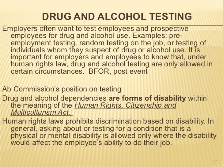 Management Publishes New Drug and Alcohol Testing Policy - oukas.info