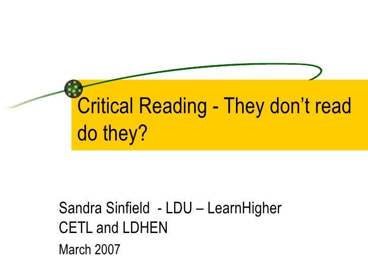 Critical reading final