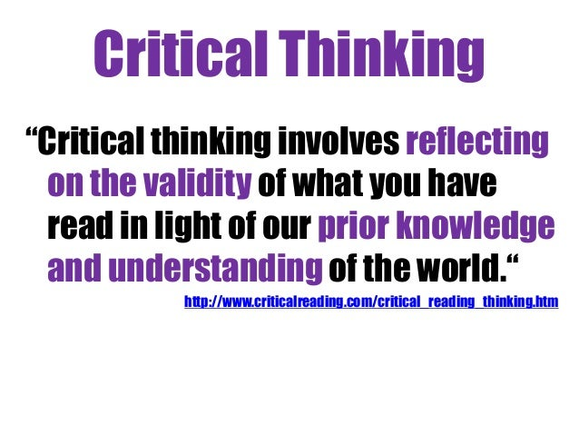 critical thinking abnormal behavior Critical thinking in psychology good scientific research depends on critical thinking at least as much as factual knowledge psychology is no exception to this rule and yet, despite the importance of critical thinking, psychology students are rarely taught how to think critically about the theories, methods, and concepts they must use.