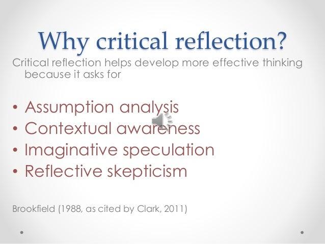 Critically reflect
