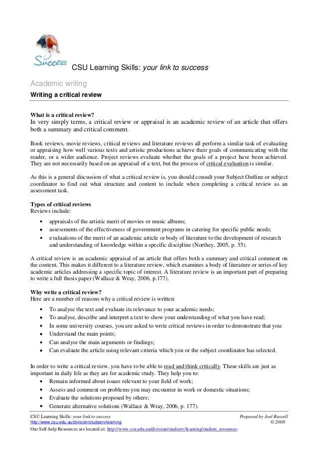 CSU Learning Skills: your link to success Prepared by Joel Russellhttp://www.csu.edu.au/division/studserv/learning © 2008O...