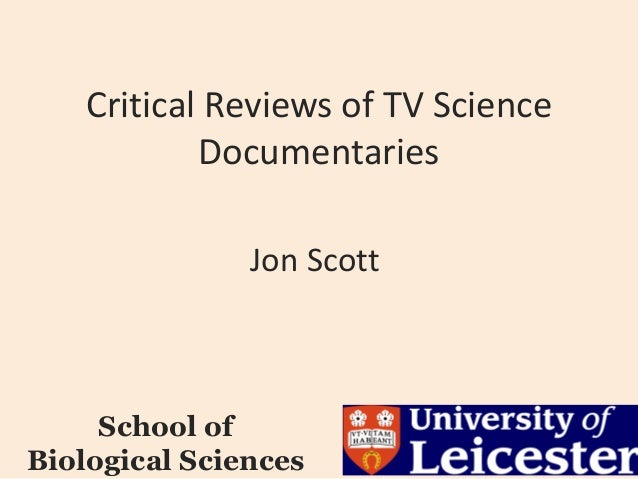 Critical reviews of TV science documentaries