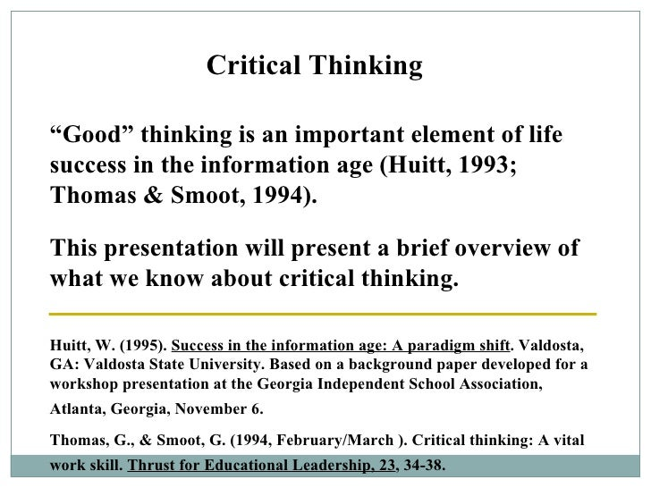 improving critical thinking in college Improving critical thinking in the college classroom mark berg, psychology jed morfit, art bill reynolds, social work the richard stockton college of new jersey 1 pre-conference workshop for the conference on  developing critical thinking skills is a way of.
