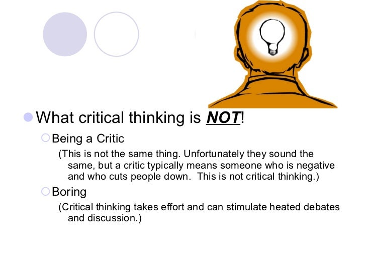 Negative Thinking is NOT Critical Thinking | Sciforums