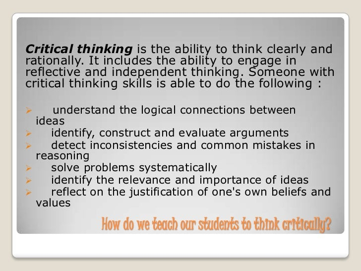 Critical Thinking Appraisal Practice Test