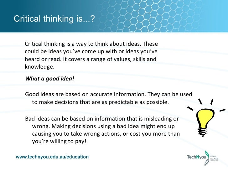 article on critical thinking