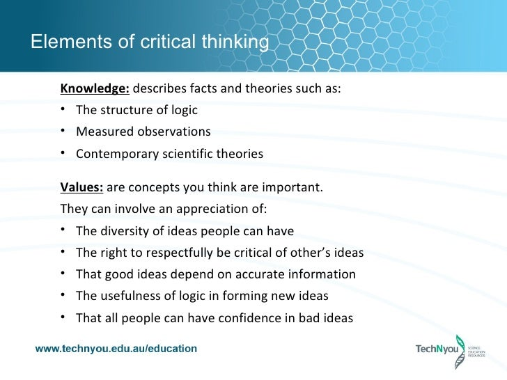 Elements Of Thought Critical Thinking