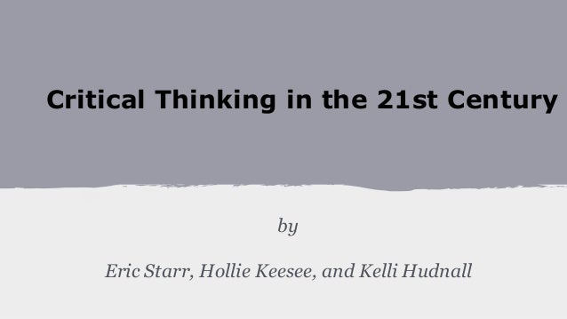 Critical Thinking Pillar Project