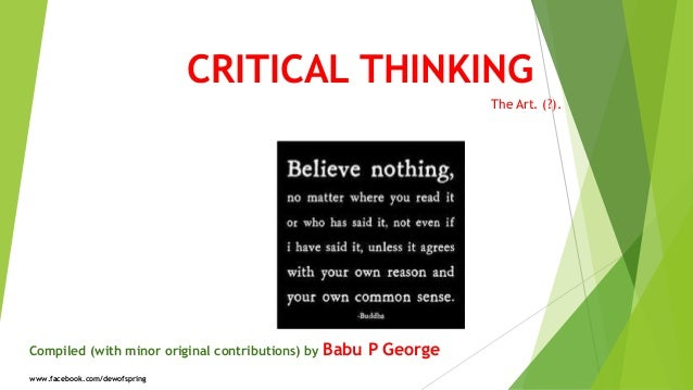 essays on critical thinking skills