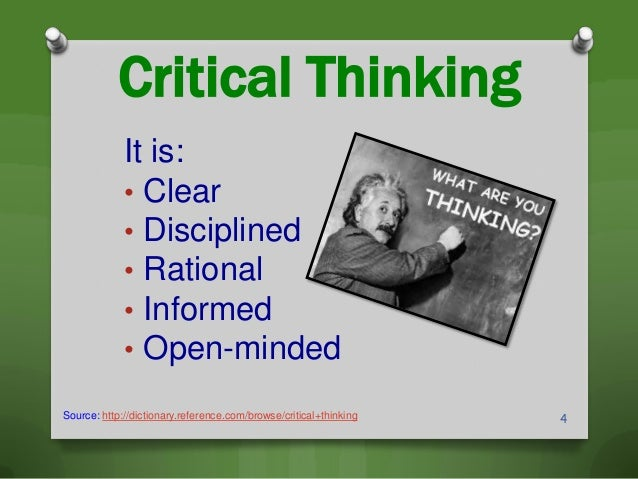 Define critical thinking webster's dictionary