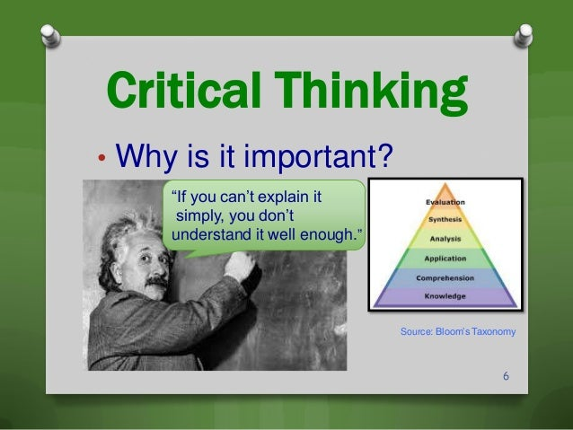 explain the process of critical thinking