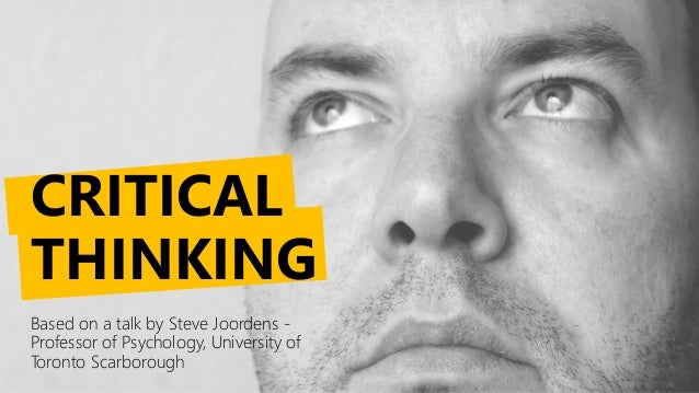 Guide to critical thinking