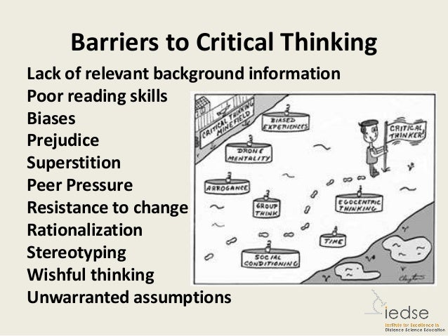 barriers to critical thinking 2 essay Lesson 3- barriers of critical thinking part 1 - duration: example of an effective critical analysis essay - duration: 2:15 stacey hoffer 73,591 views.