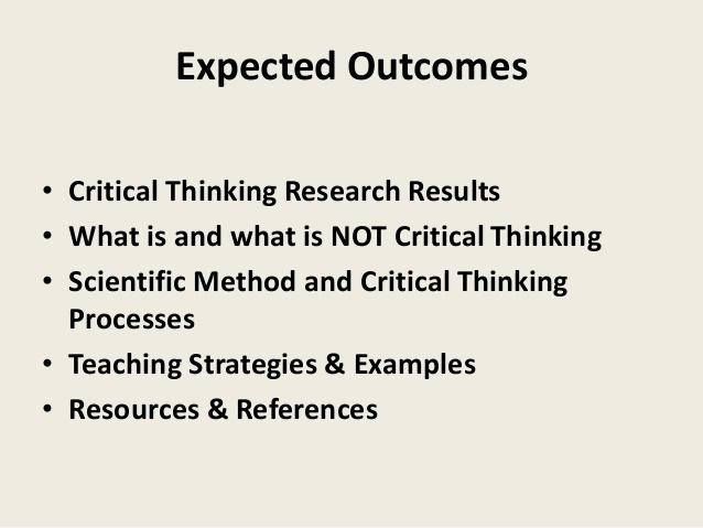 The Legitimacy of Critical Thinking