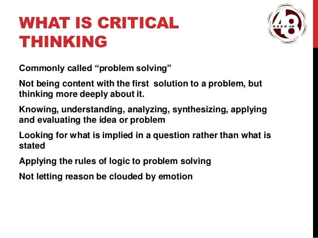 Critical thinking dictionary