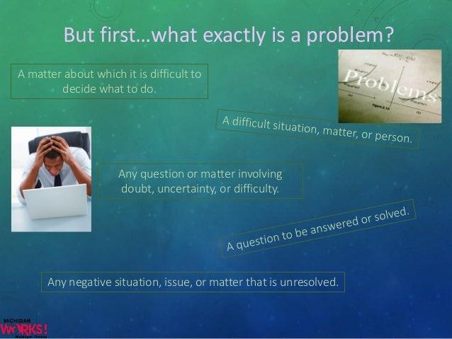 Thinking problem solving
