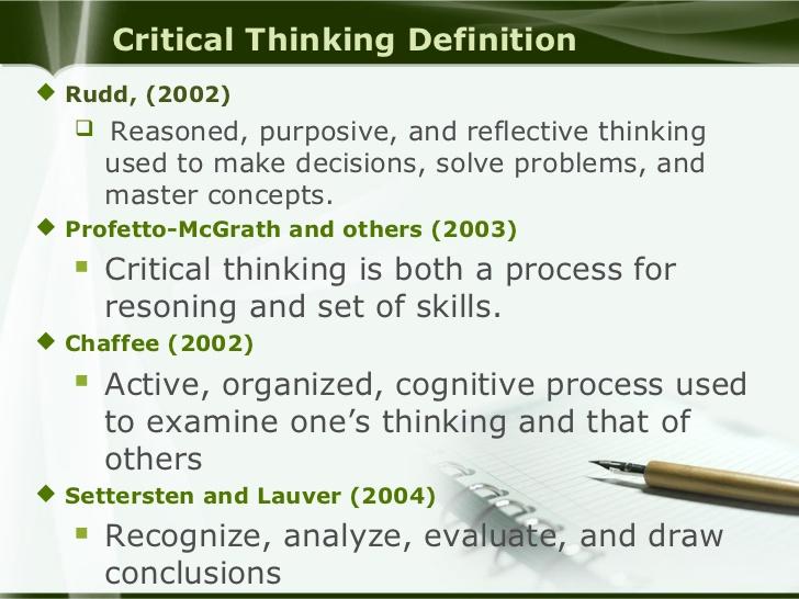 critical thinking school