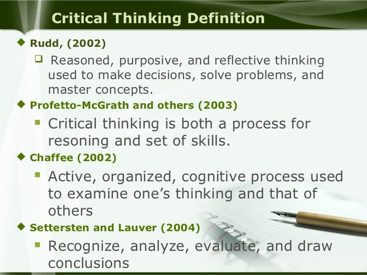 Critical thinking activities for middle school