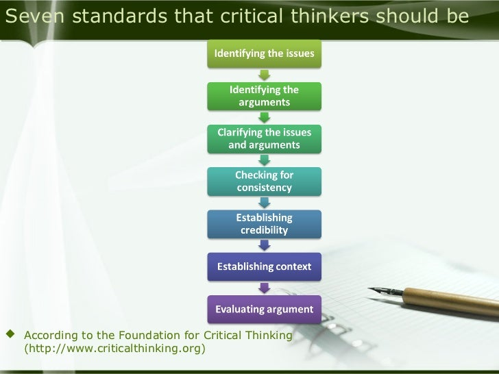 critical thinking foundation for critical thinking