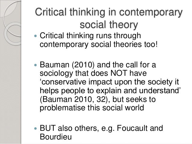 Critical thinking sociology