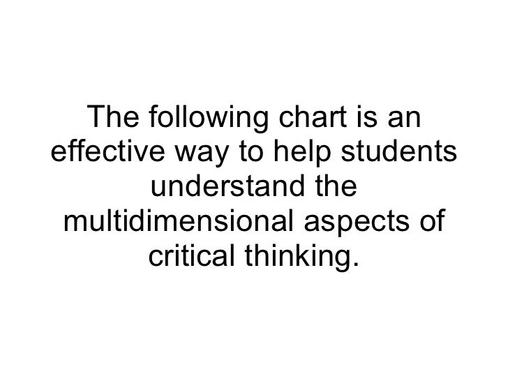 critical thinking skills for students ppt The effect of problem based learning on critical thinking ability: effect of pbl on students' critical thinking thinking skills, especially critical.