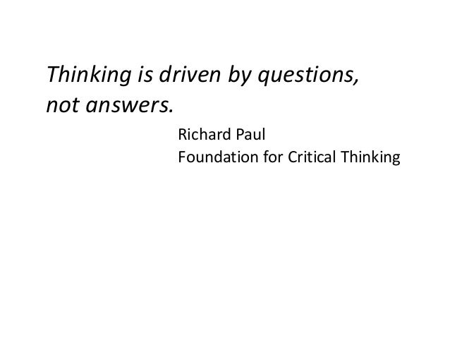 Critical Thinking question?