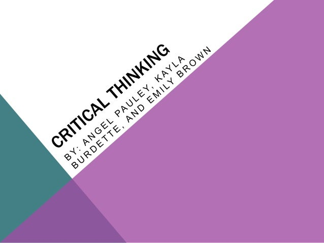 critical thinking powerpoint for students